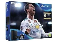 BRAND NEW PS4 Slim 500GB with FIFA 18 bundle (unopened)