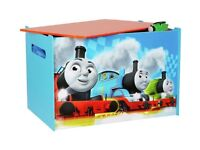 NEW Boys Storage Toy Box Wooden Chest Children Bedroom Furniture Thomas and Friends