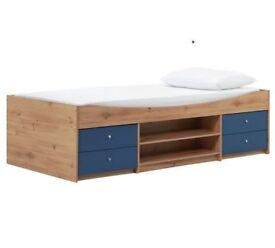 Childrens Blue Malibu Cabin Bed with Storage