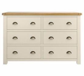 Heart of House Kent 3+3 Drawers - Cream & Oak Argos RRP £329.99