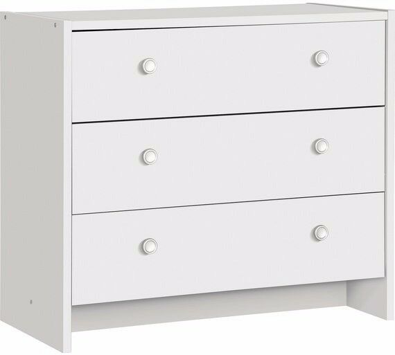 Ex display Seville 3 Drawer Chest - White