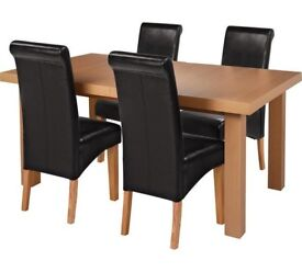 Ex display Wickham Extendable Table & 4 Chairs - Black