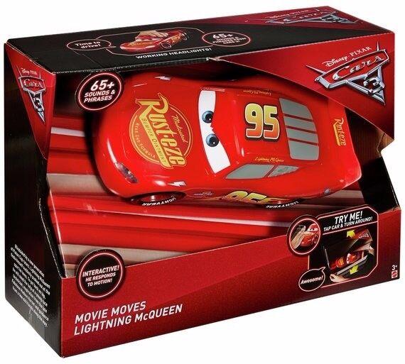 Disney Cars 3 Movie Moves Lightning McQueen NEW IN BOX TV WALL BRACKET