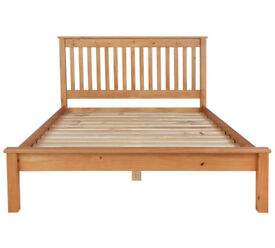 Aspley Double Bed Frame - Oak