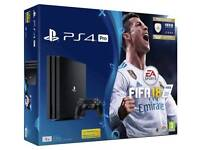 PS4 Pro Black 1TB with FIFA 18 Bundle *BRAND NEW & SEALED