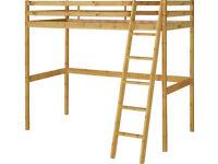 Wooden High Sleeper Single Bed Frame - Pine