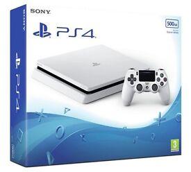 BRAND NEW/UNOPENED PlayStation 4 slim glacier white