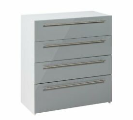 Ex Display Atlas 4 Drawer Chest - Grey Gloss