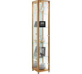 1 Glass Door Display Cabinet - Beech Effect