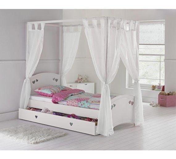 Mia 4 Poster Bed Frame White