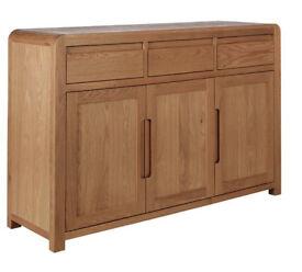 Heart Of House Novara 3 Door 3 Drawer Oak Veneer Sideboard