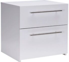 Ex display Atlas 2 Drawer Bedside Chest - White