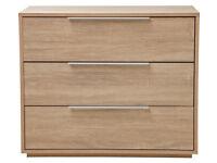 Hygena Bergen 3 Drawer Chest - Oak