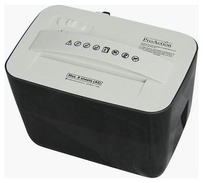 ProAction 005CC 8 Sheet 4.5 Litre A5 Cross Cut Paper Shredder - White/Black