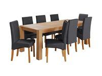 Alston Oak Veneer Table & 6 Chairs- Choice of 3 colours