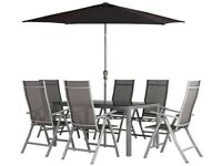 Malibu 6 Seater Metal Patio Set