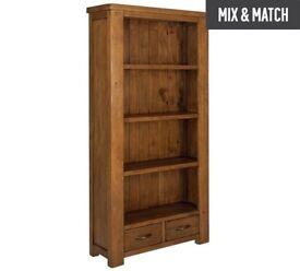 Ex display Arizona 3 Shelf 2 Drawer Solid Pine Bookcase