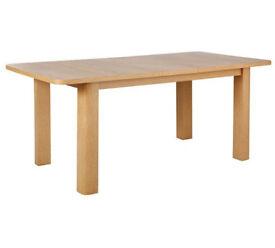 HOME Shenley Extendable Oak Veneer 6 - 8 Seater Dining Table