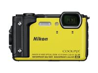 NEW SEALED Nikon Coolpix W300 16MP 5x Zoom Compact Camera - Yellow