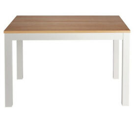 Clifton Oak Veneer 4 Seater Table - Two Tone