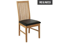 HOME Paris Pair of Mid Back Dining Chairs - Black