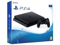 PS4 slim 1tb basically brand new hardly used with brand new controller