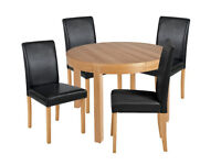 Collection Clifton Extendable Table & 4 Chairs - Black