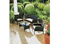 NEW Conservatory Furniture Set 4 seater - chairs settee / sofa coffee table wicker effect