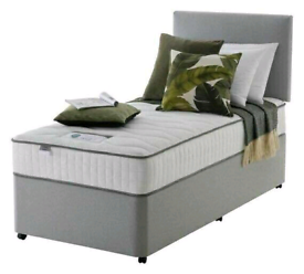 Brand New 3ft (single) Plain Fabric bed with a headboard