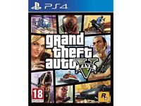PS4 GTA V game in mint condition.