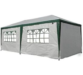 HOME 3m x 6m Gazebo with Weather Resistant Side Panels