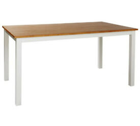 Collection Hamstead Solid Wood 6 Seater Table - Two Tone
