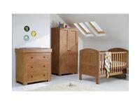 Mamas & Papas Harrow 3 Piece Nursery Furniture Set-Dark Oak