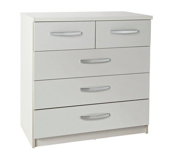 Colleciton New Hallingford 5+2 Drawer Chest - Grey Gloss