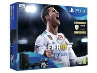 New PS4 500GB FIFA 18 Bundle + 2 Extra Wireless Controllers