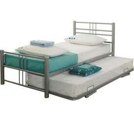 Atlas Guest Bed Silver (singles that turn into double)
