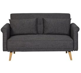 Hygena Evie 2 Seater Fabric Sofa in a Box - Charcoal 979.