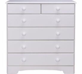 Ex Display Nordic 4+2 Drawer Chest - White