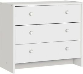 Ex-display Seville 3 Drawer Chest - White