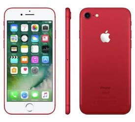 Iphone 7 Red 128GB LIKE NEW Boxed - stunning colour