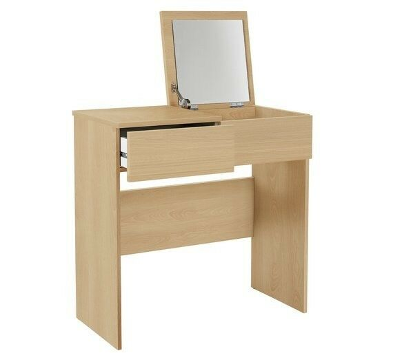 Ex Display Dressing Table With Drawer And Fold Up Mirror