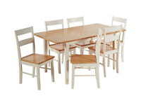 Collection Chicago Extendable Solid Wood Table & 6 Chairs