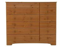 Ex Display Nordic 6+6 Drawer Chest - Pine