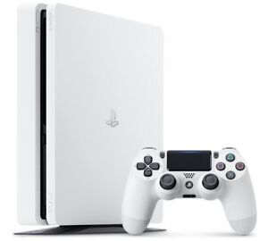 PS4 playstation 4 slim white limited edition like new in box