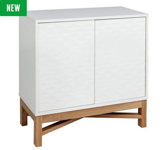 Hygena Zander Textured Sideboard - White & Oak Effect