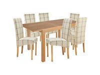 already built up Clifton Extendable Table & 6 Chairs - Cream Check