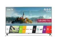 55'' LG SMART 4K ULTRA HDR LED TV. UE55UJ651. FREESAT HD CHANNELS. WIRELESS CONNECTION