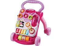 Vtech first steps Girls Pink Baby Walker with Phone
