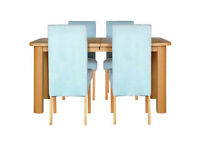 Collection Stonebury Extending Table & 4 Chairs - Duck Egg