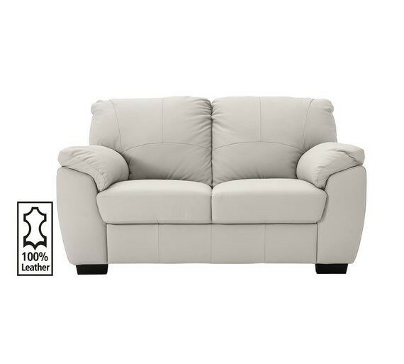 96fff77f8e4 Milano 2 Seater Leather Sofa - Light Grey